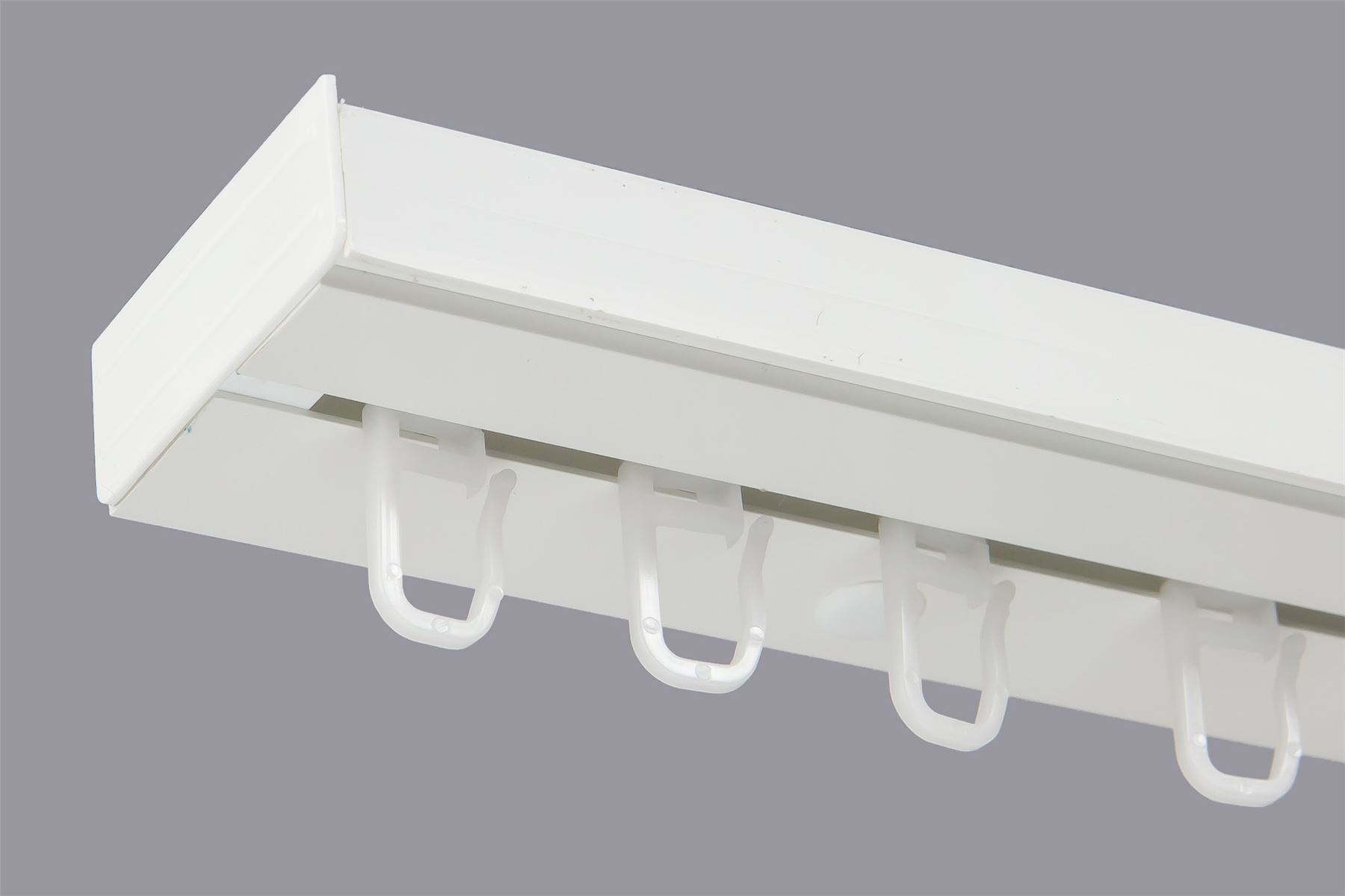 Binari Per Tende A Soffitto : Single or double curtain rail track pcv ceiling set with hooks or