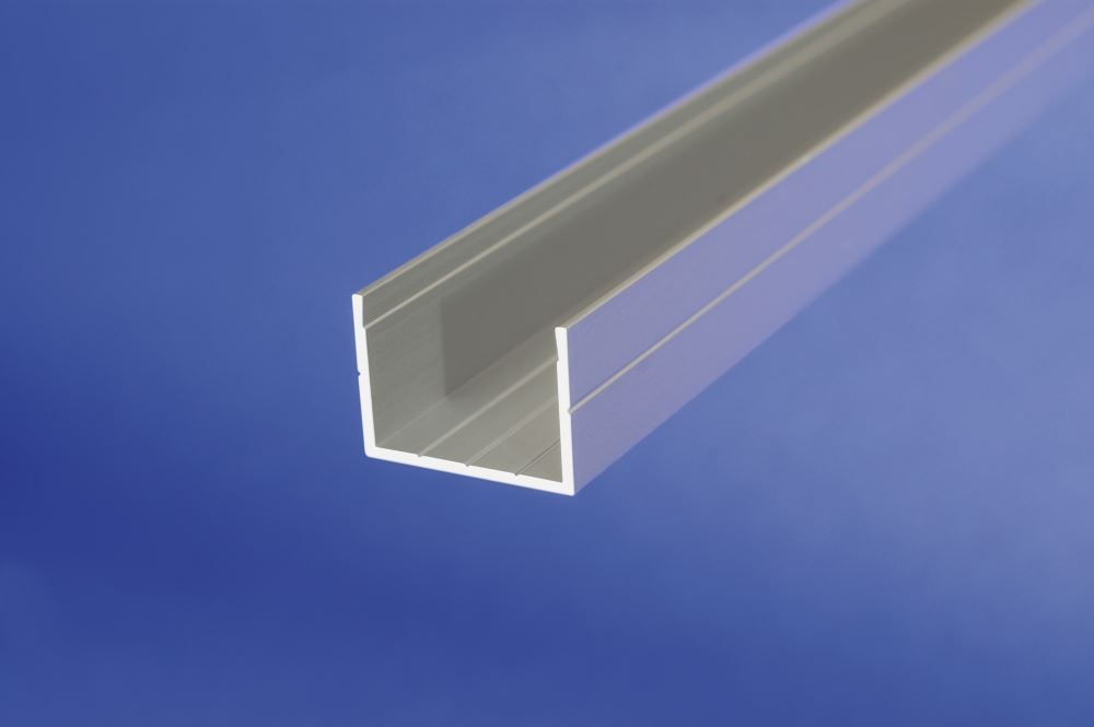 Details about 1 m Aluminum Anodised Channel C Shape Section Grooved Bar,  Various Sizes