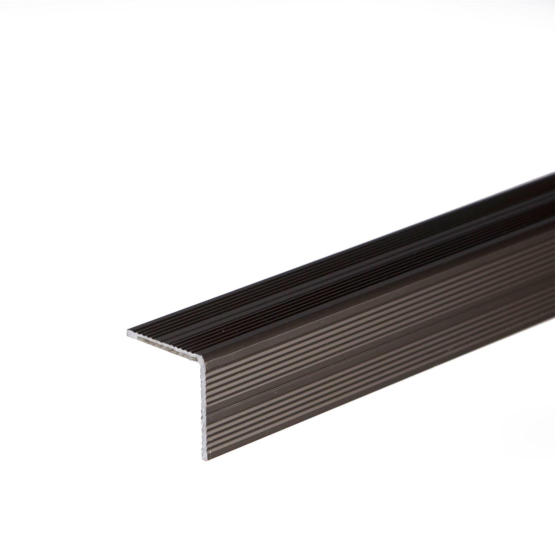 900x25x25mm Selfadhesive Anodised Aluminium Anti Non Slip
