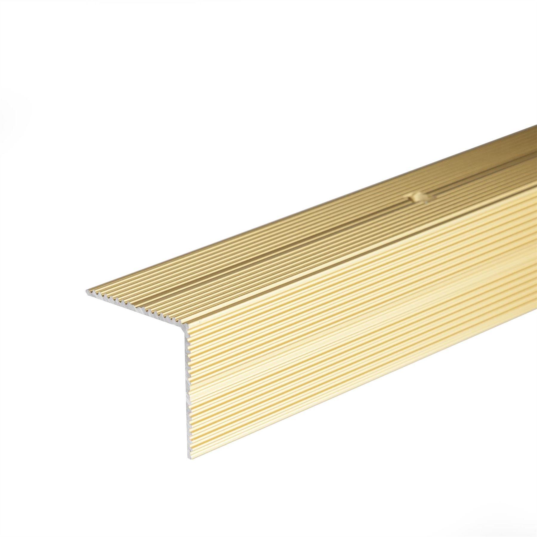 Anodised Aluminium Anti Non Slip Stair Edge Nosing Trim