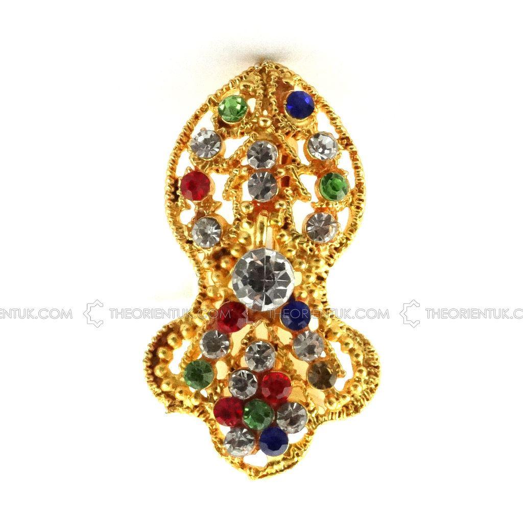 Details about Nalain Pak Naqsh Badge Diamonds Multicoloured Pin Brooch  Islamic Milad Gift NEW