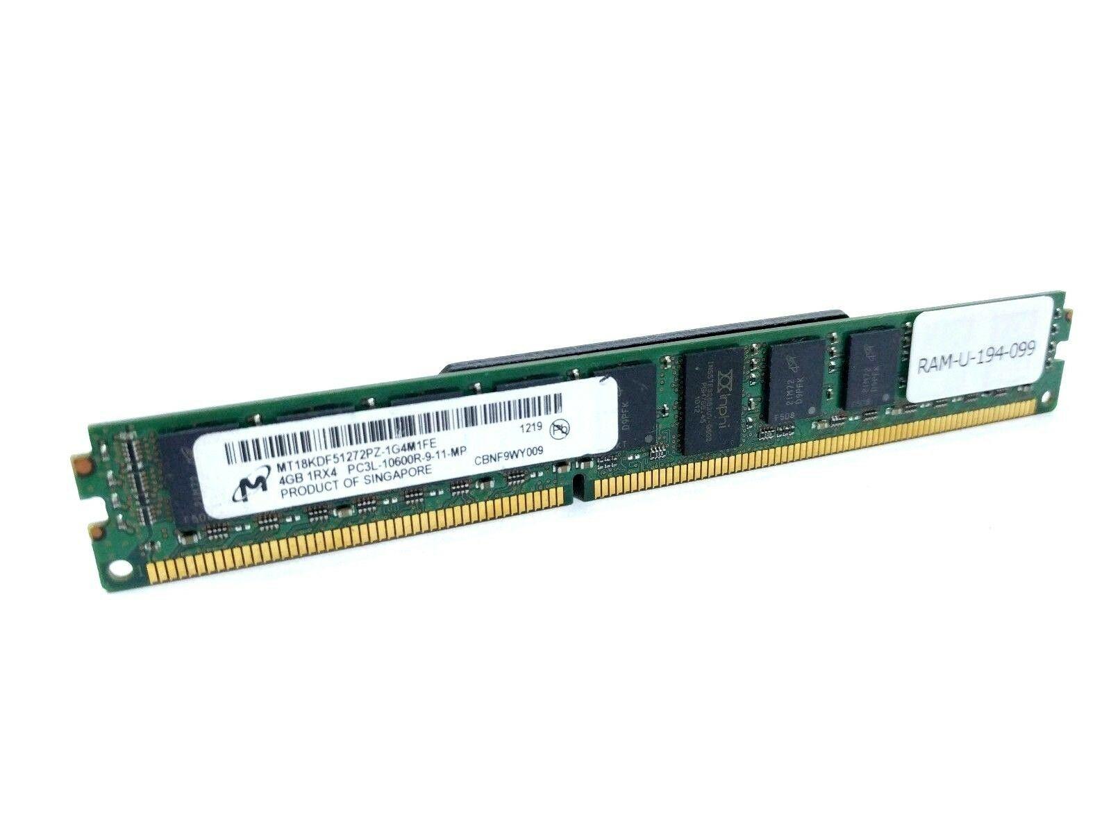 Micron 2GB  2Rx8 PC3-10600R RAM Server Workstation MT18JSF25672PDZ DDR3 HP