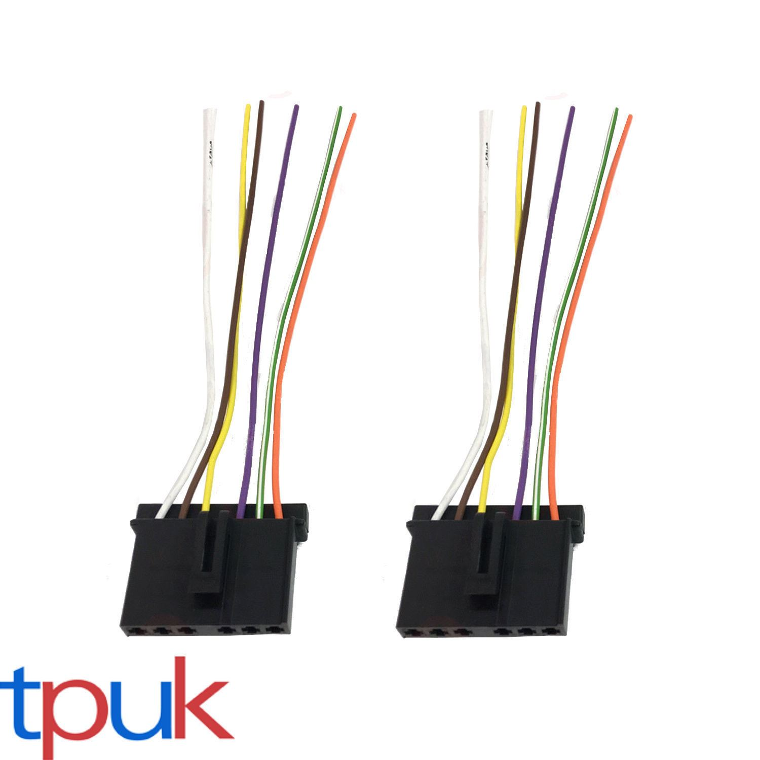 2 X Ford Transit Mk6 Mk7 Rear Light Bulb Holder Wire Loom Cable Wiring Block Connectors Connector Plug