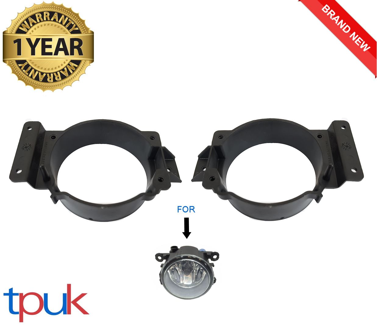 Eastar 1 Pair Gray Front Fog Light Lamp Bracket Fit For Ford Transit Mk7 2006-2014
