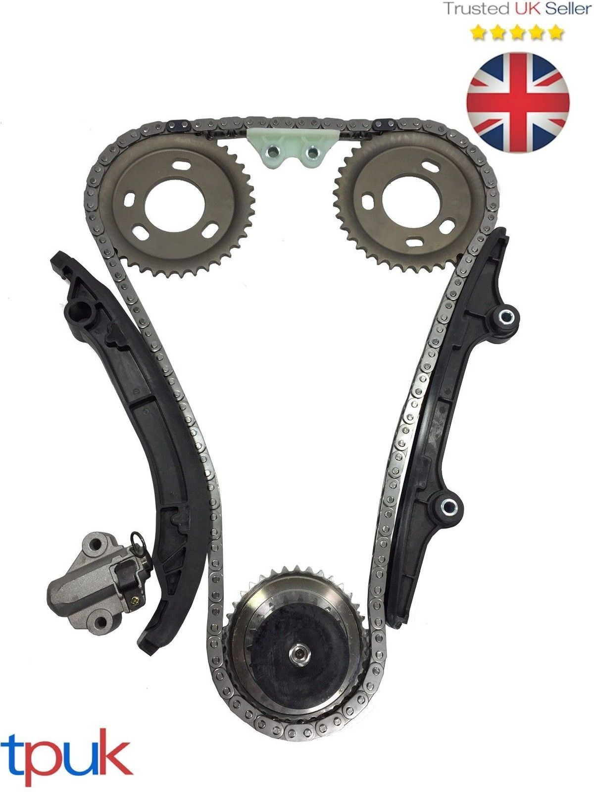 Gears Chaîne Guides Tendeur Land Rover Defender Timing Chain Kit 2.4 2006 sur
