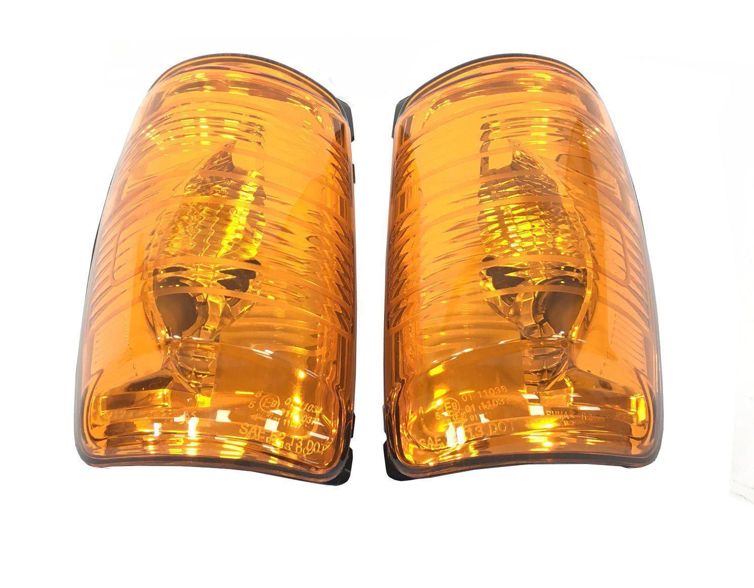 Ford Transit MK8 2014 indicador Naranja Espejo en ala Lente izquierda y derecha