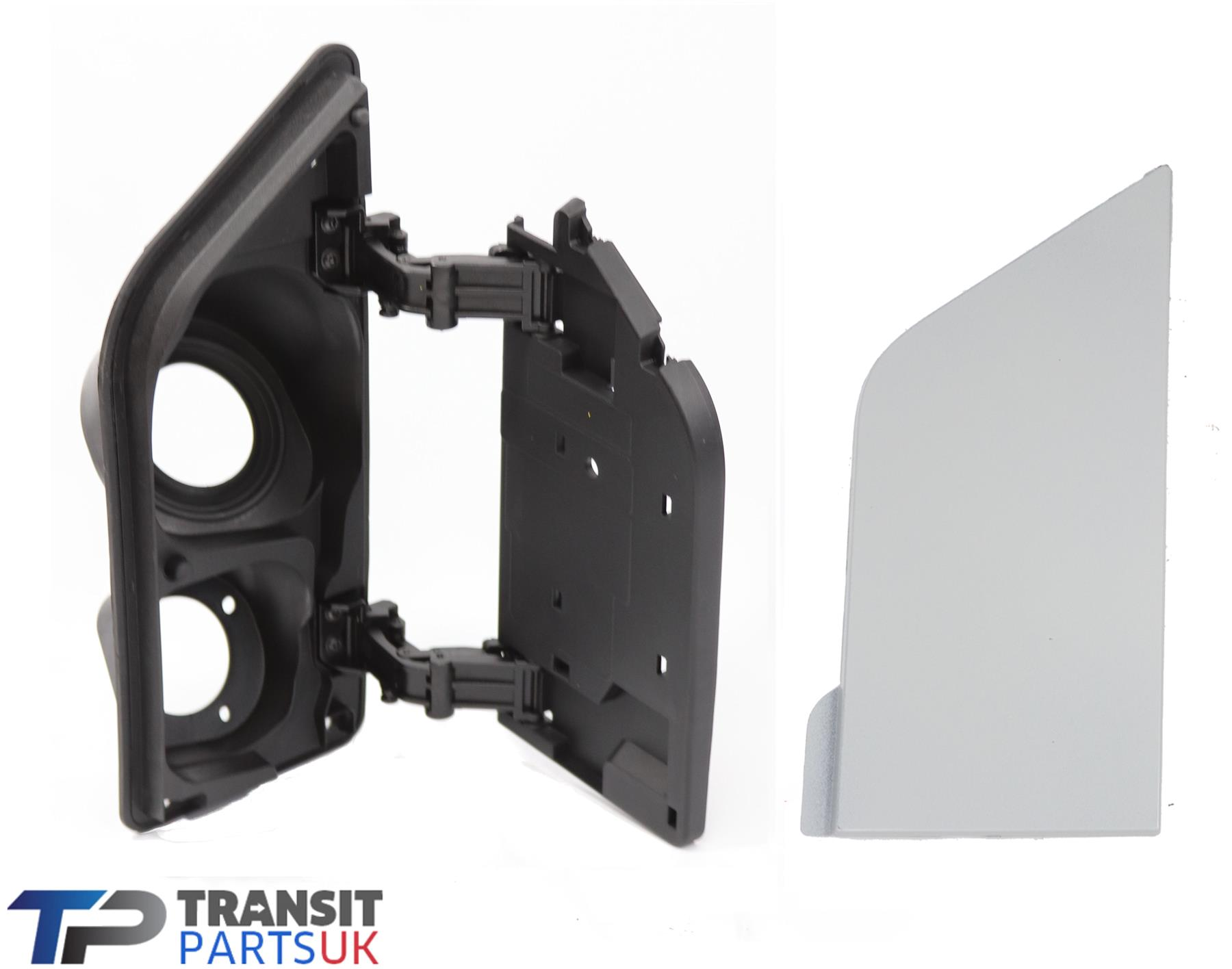 WHITE FUEL TANK FILLER DOOR FLAP HOUSING FORD TRANSIT MK7 2006-2014 black /&white