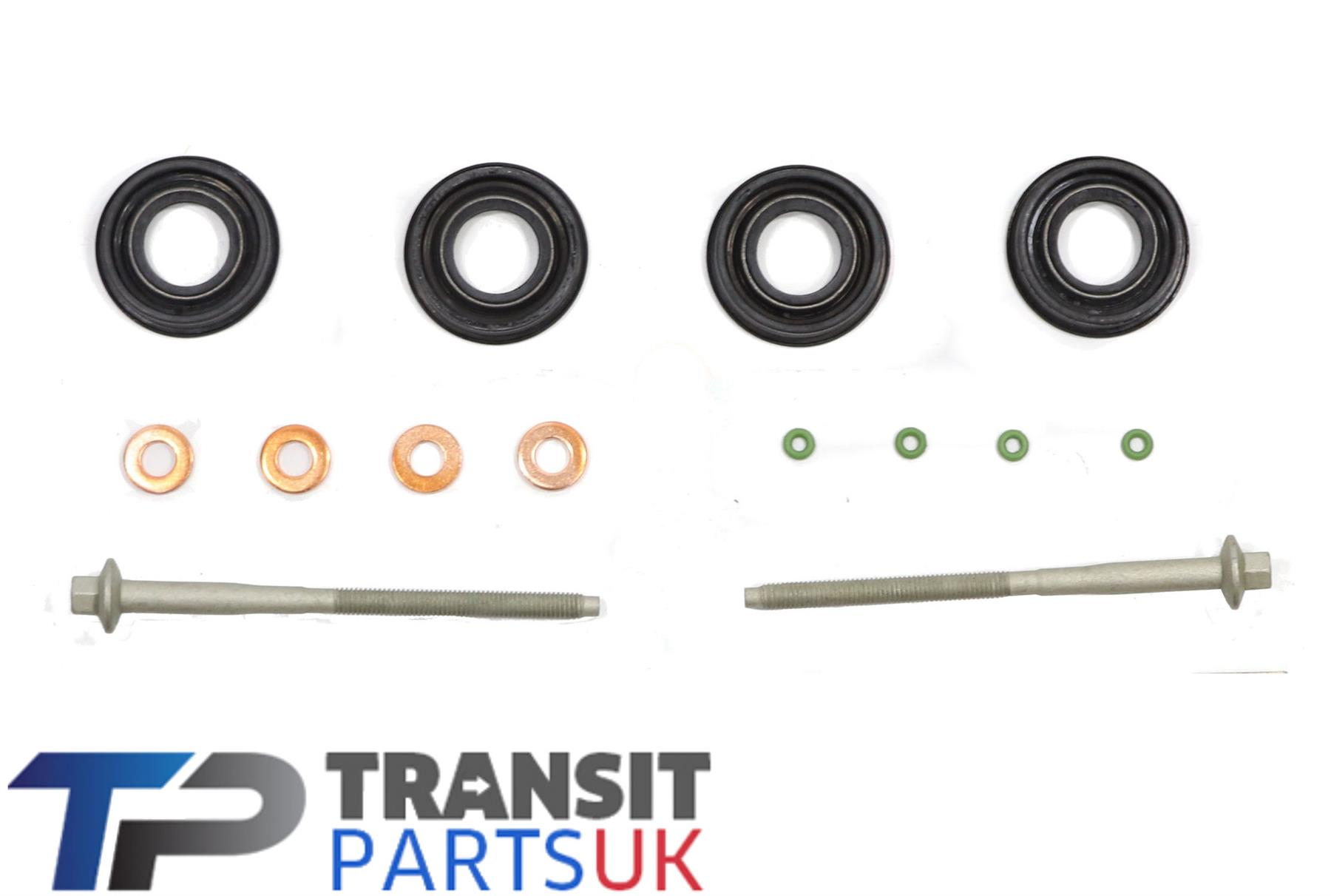 A SET OF 4 OE QUALITY INJECTOR SEAL FORD TRANSIT 2000-2006 MK6 2.0 DIESEL