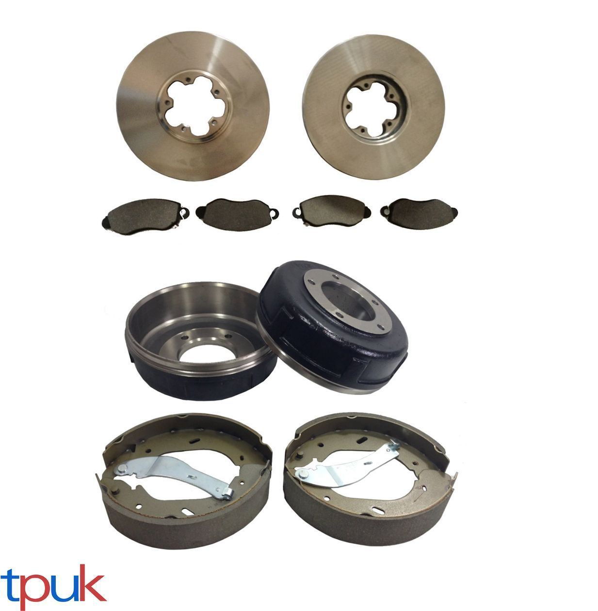 FRONT BRAKE DISCS AND PADS FORD TRANSIT MK6 2000-2006 FRONT WHEEL DRIVE 2.0