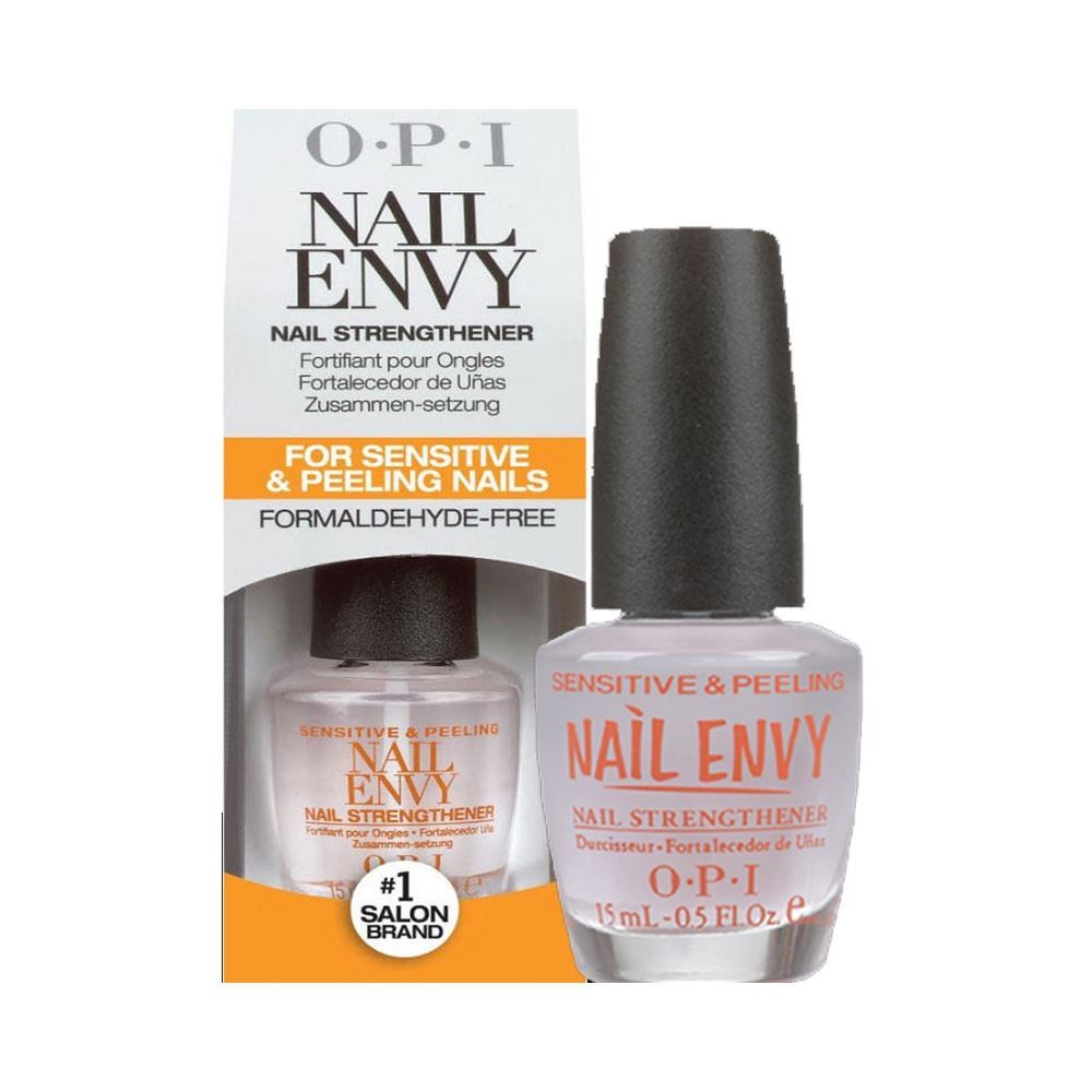 OPI Nail Envy nail strengthener polish in clear or coloured - 15ml ...