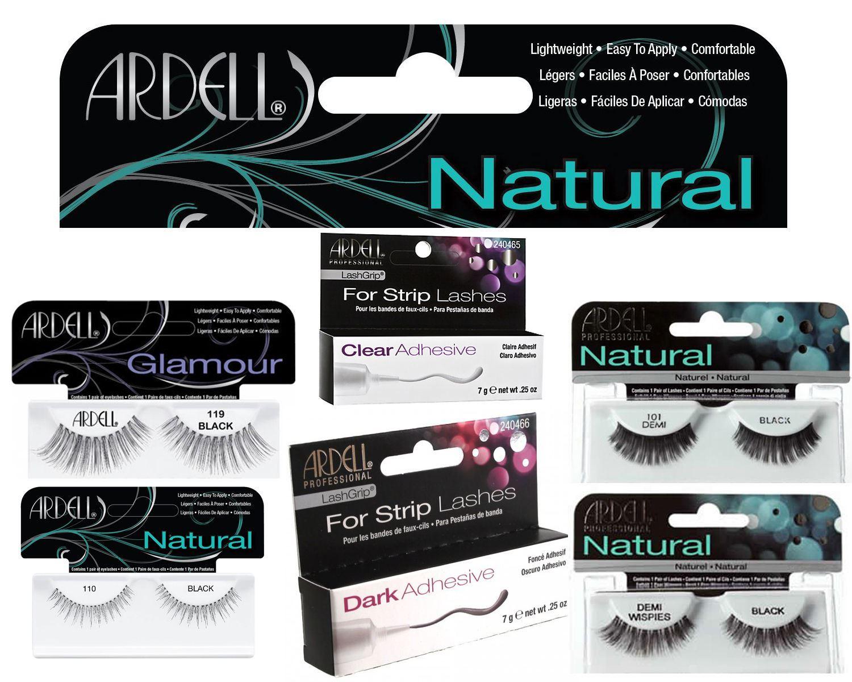 3e81c2f3415 Ardell 100% Human Hair False Eyelashes Fashion/Glamour/Natural Lashes /Adhesive