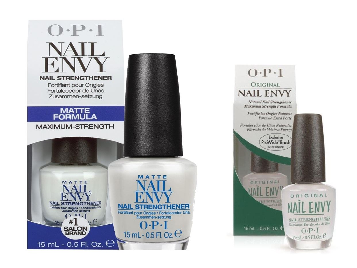 OPI Nail Envy Nail Strengthener - Original Maximum Strength & Matte ...