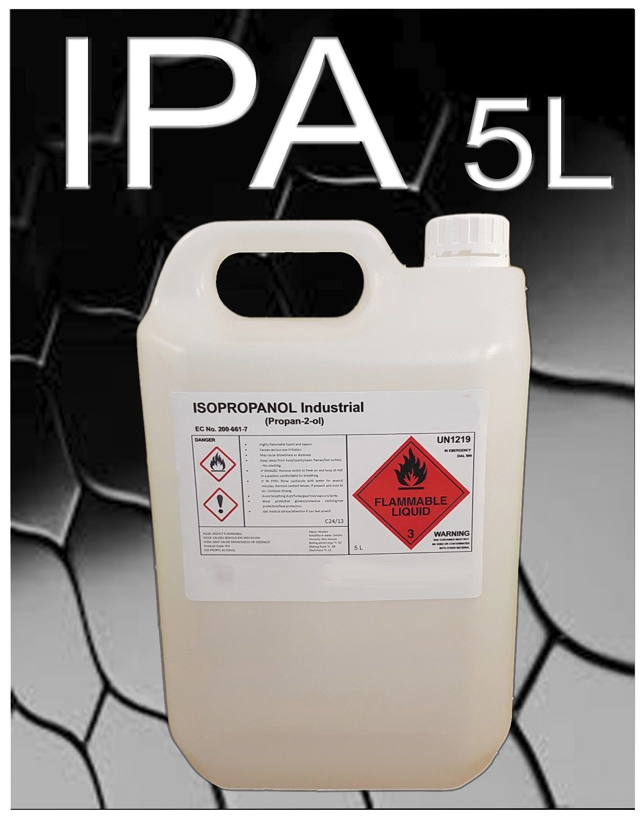 Details about 5L x 4 Isopropyl Alcohol IPA PROPAN-2-OL ISOPROPANOL C3H7OH  99 9% (20L in total)