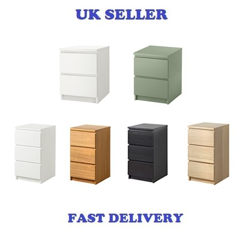 Ikea Comodino Malm.Details About Ikea Malm Drawers Furniture Chest Of 3 Drawers 80x78cm Cheapest