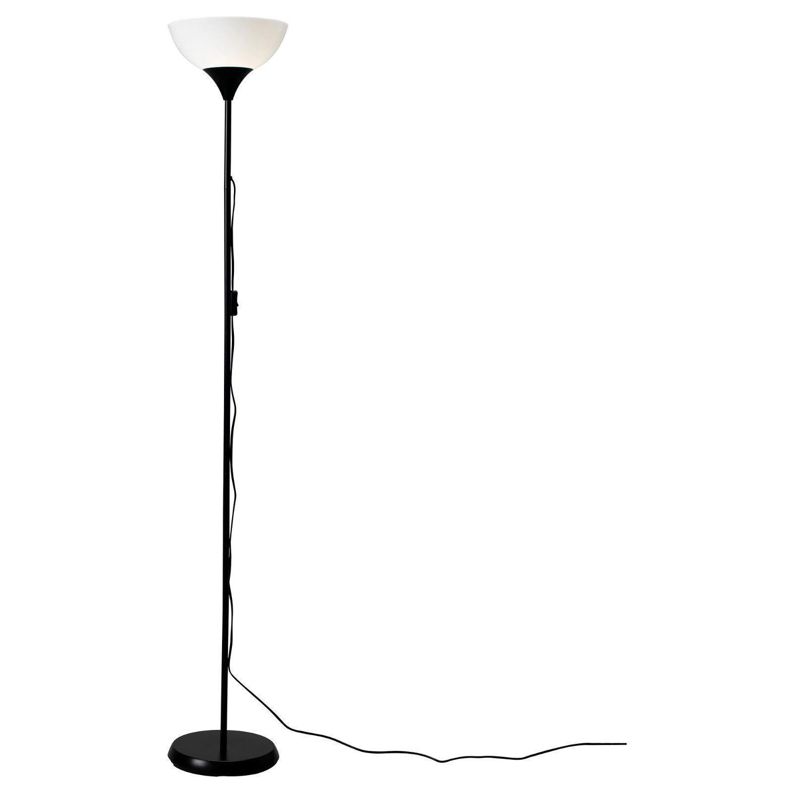 Ikea Tall Floor Standing Lamp Black Amp White Reading Light