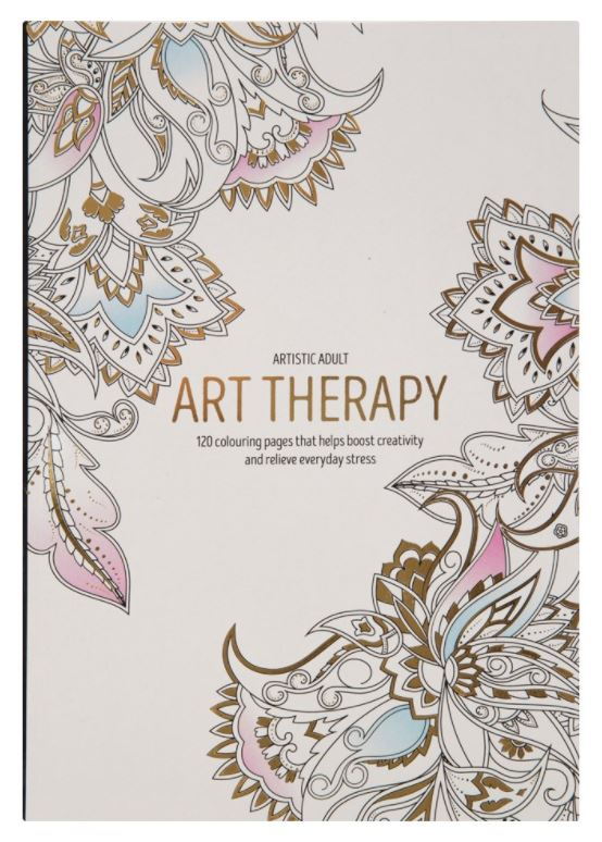 Large Adult Relaxing Art Therapy Colouring Book Anti Stress 120 Designs New