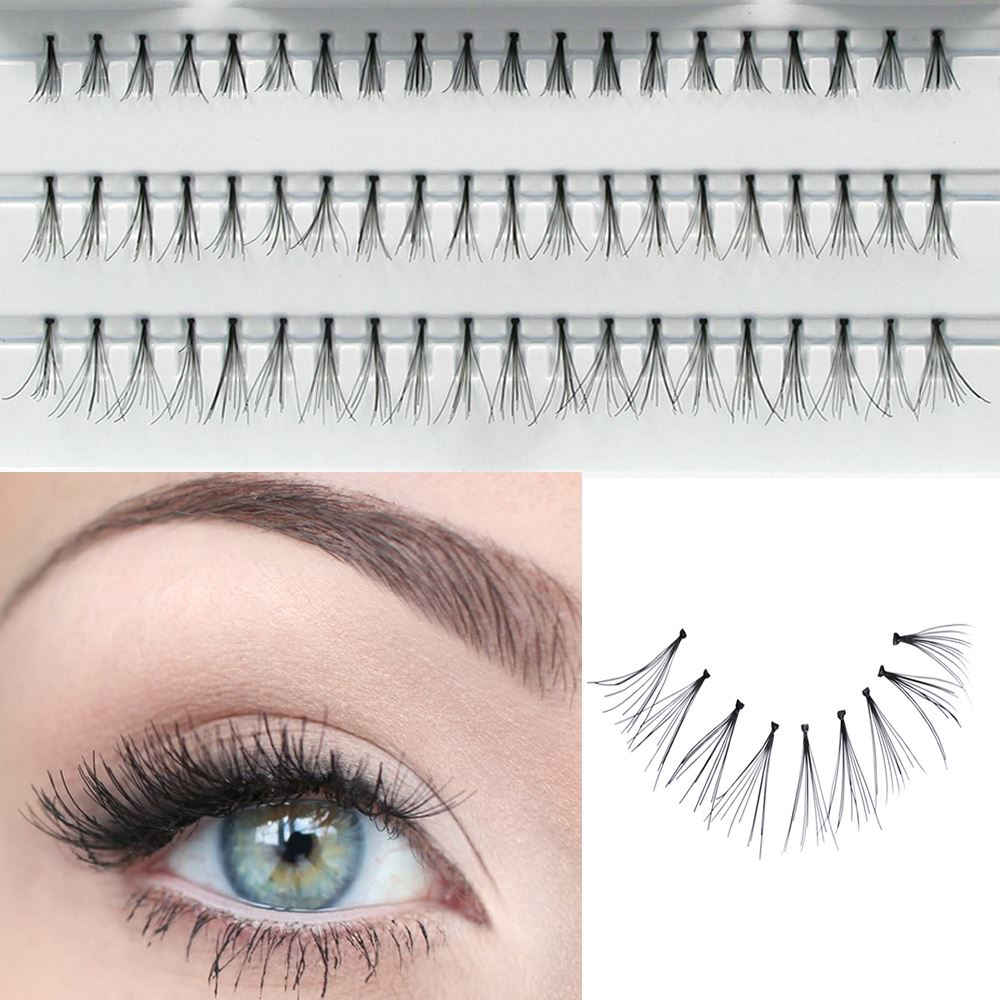 60 Stand Flare Cluster Eyelashes Glue Individual False Lash