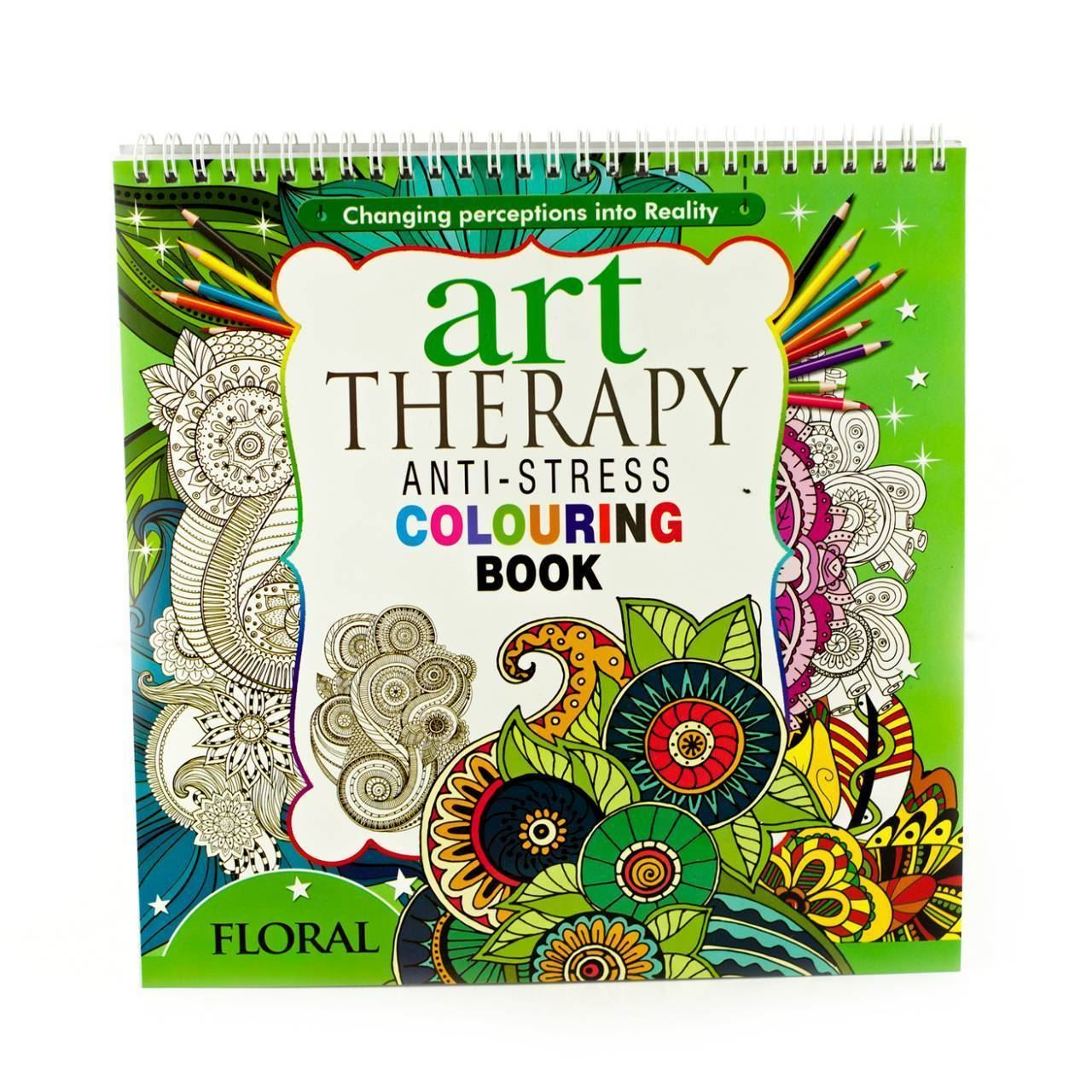 Adult Colouring Therapy Anti-Stress Art Colouring Book Relax 100 ...