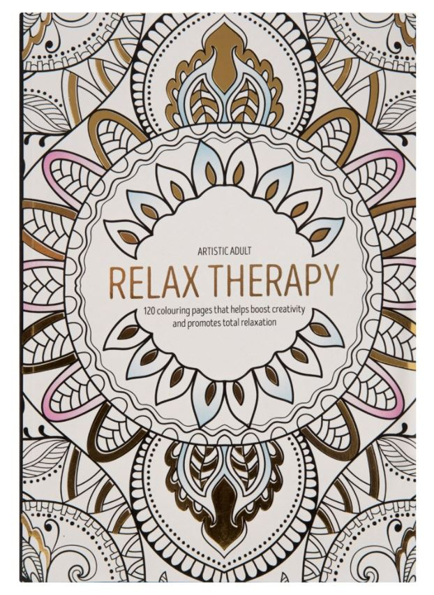 Large Adult Colouring Book Relaxing Art Therapy Anti Stress 120 Designs New