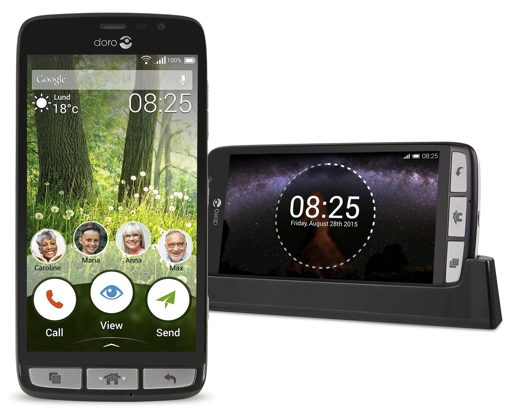 Doro Liberto 825 Black 8Gb Brand New Condition Unlocked 8Mp Camera