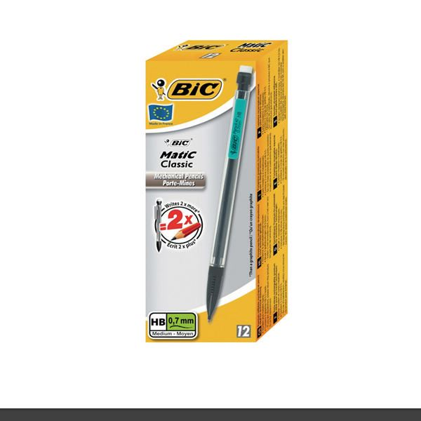 BIC Matic Original Classic 0.7mm or 0.9mm Mechanical Pencils packed in 12/'s