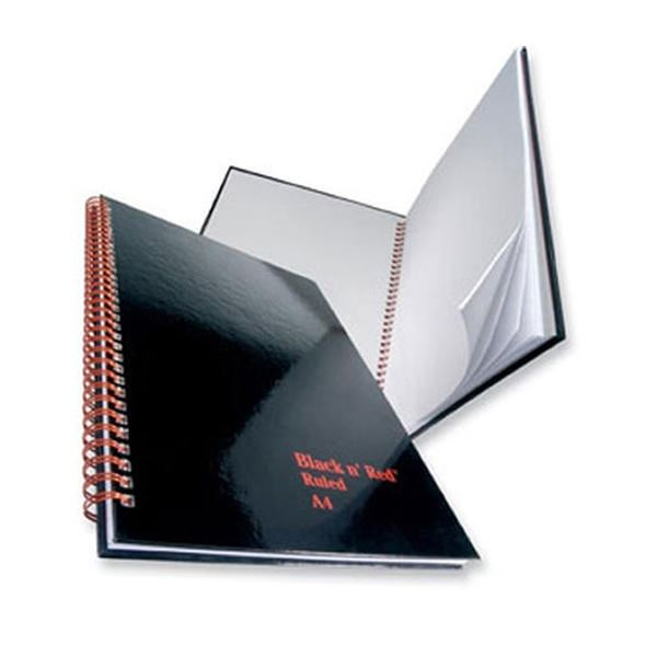 Oxford Black n Red A4 Glossy Hardback Wirebound Notebook Ruled 140 Page 5 Notebooks