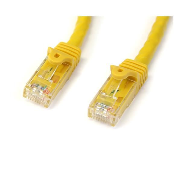 Yellow 6 ft StarTech.com Cat5e Patch Cable with Snagless RJ45 Connectors