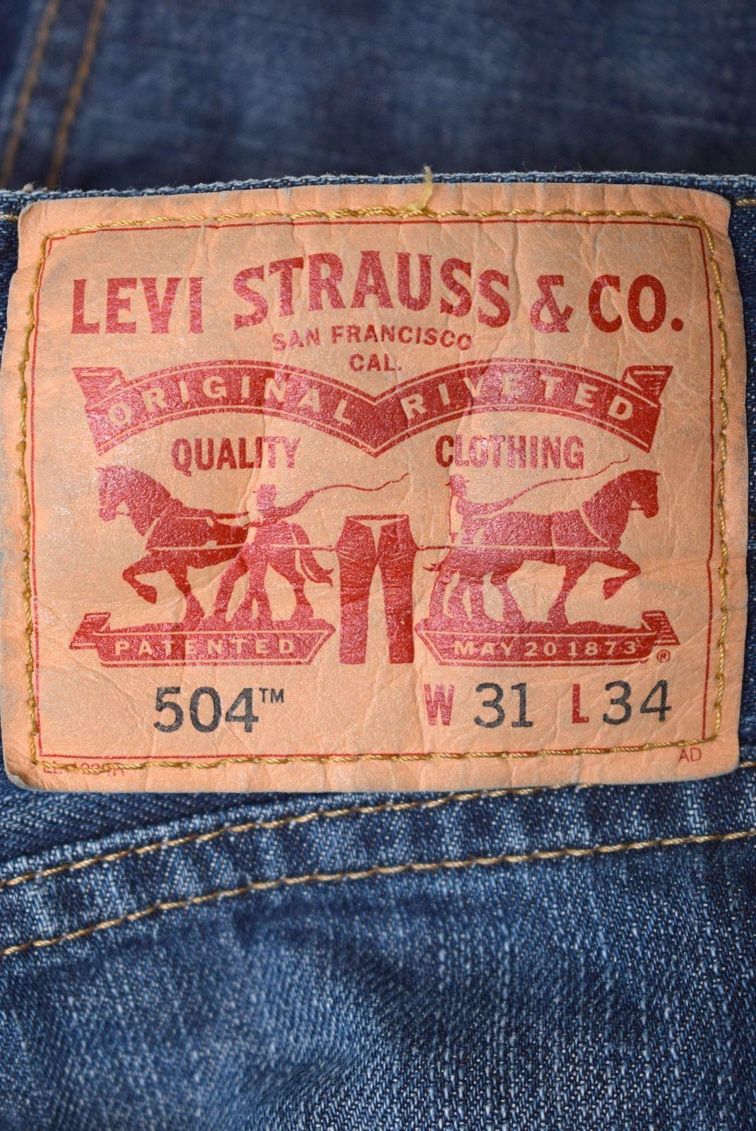 01847c6e LEVI'S Mens 501 Jeans W31 L34 Blue Cotton Straight CG06 | eBay