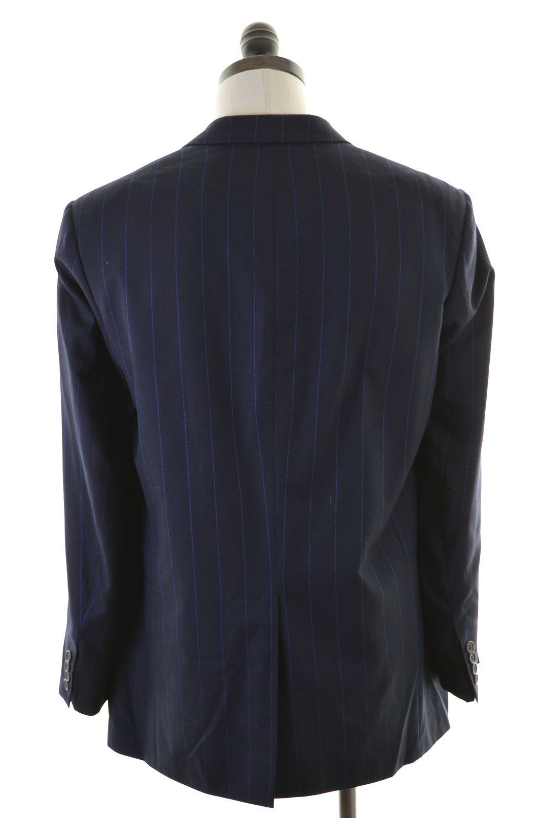 f4739f70 TED BAKER Mens 3 Button Blazer Jacket Size 42 XL Navy Blue Wool AQ02 ...