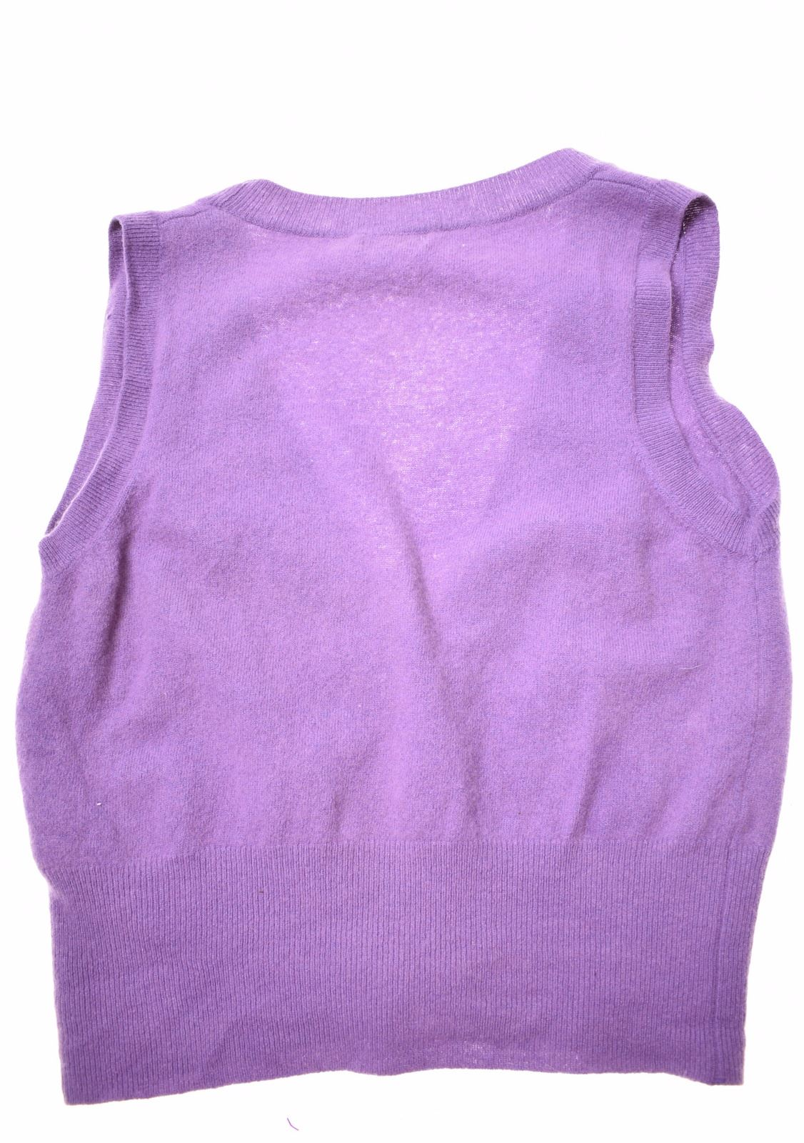 Details about UNITED COLORS OF BENETTON Girls Cardigan Sleeveless 12 13 Years Purple Wool