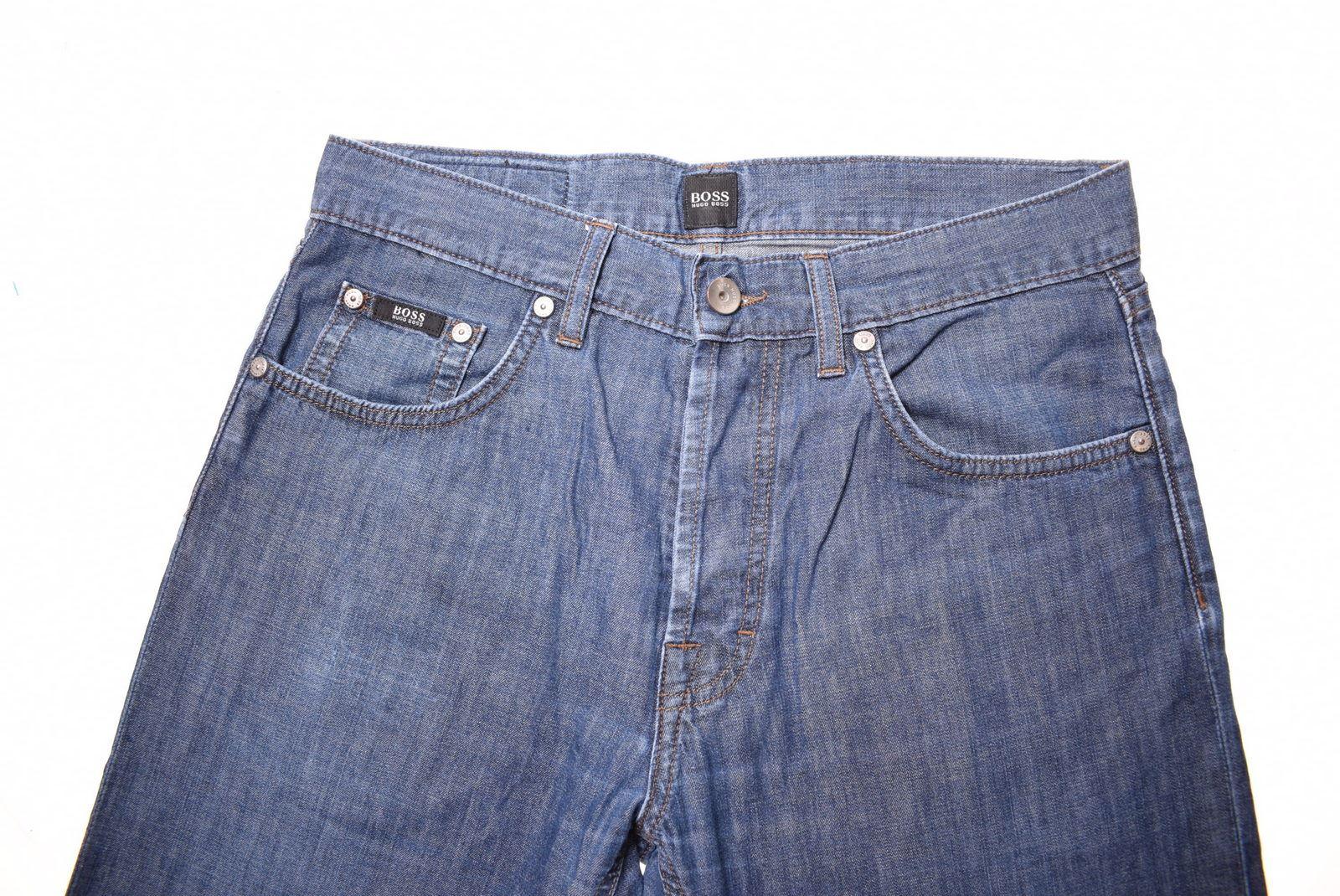 1e09db97 HUGO BOSS Mens Jeans W30 L29 Blue Cotton Straight BW05 | eBay