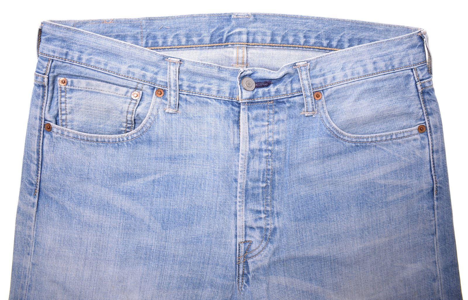 ed2dff61 LEVI'S Mens 501 Jeans W33 L34 Blue Cotton Straight CX04 | eBay