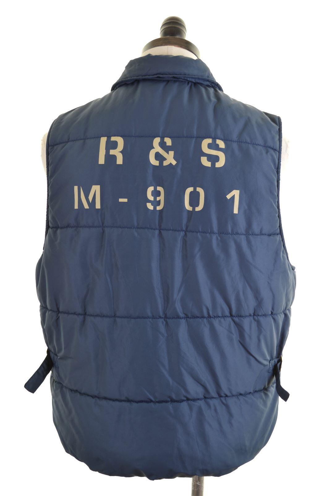 REPLAY   SONS Mens Padded Gilet Size 38 Medium Blue Nylon GH10  d86da45aefc30