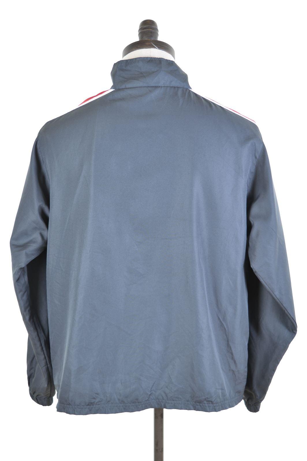 STARTER Mens Tracksuit Top Jacket Large Grey Polyester  56457dfdf3