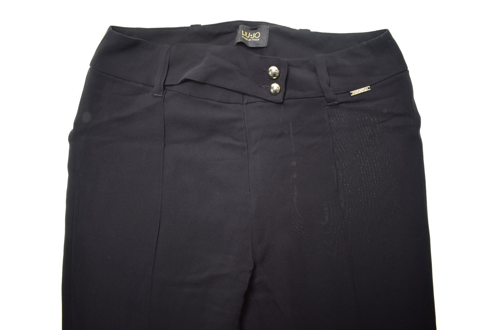 3dd72a709c LIU JO Womens Suit Trousers IT 40 W26 L30 Black Viscose JL05 | eBay