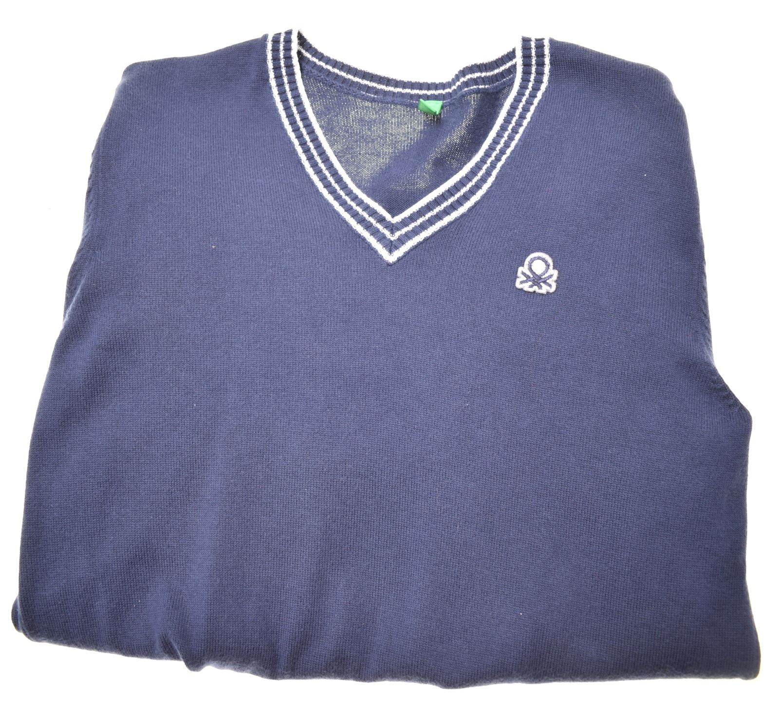 Details about UNITED COLORS OF BENETTON Boys V Neck Jumper Sweater 11 12 Years Blue Cotton