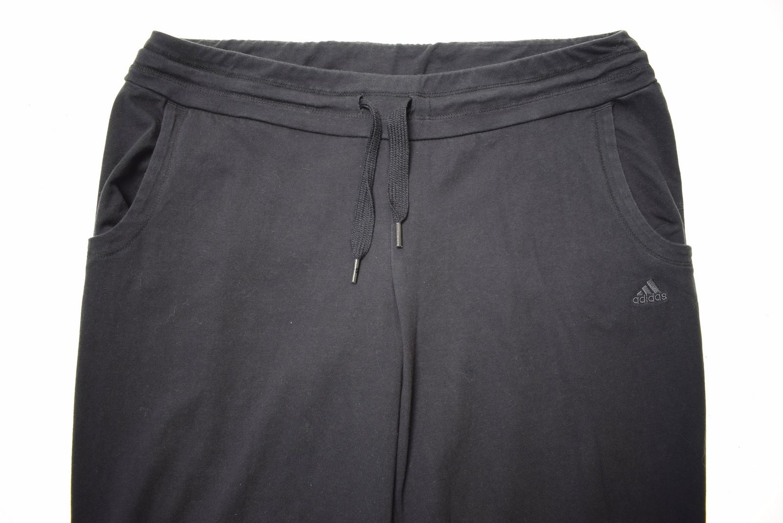 Popular Brand Adidas Womens Tracksuit Trousers Large Black Cotton Vintage Hc04 Activewear