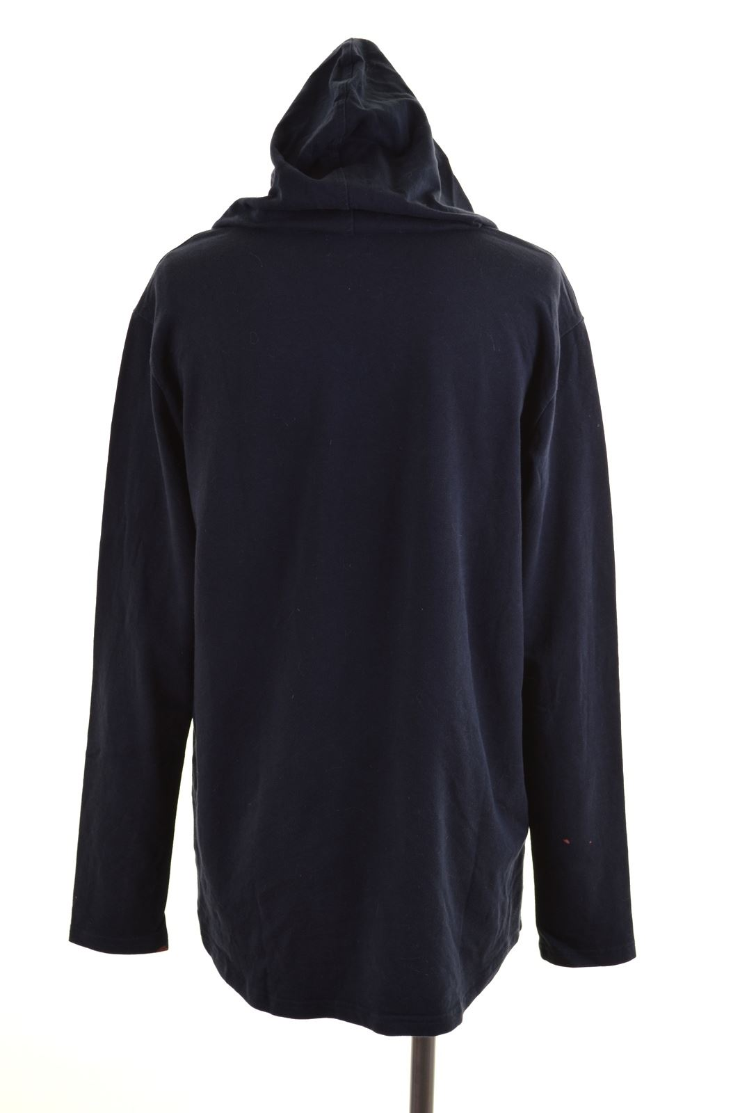 CONVERSE Womens Hoodie Jumper Size 14 Large Navy Blue Cotton FD17  a9232706ff