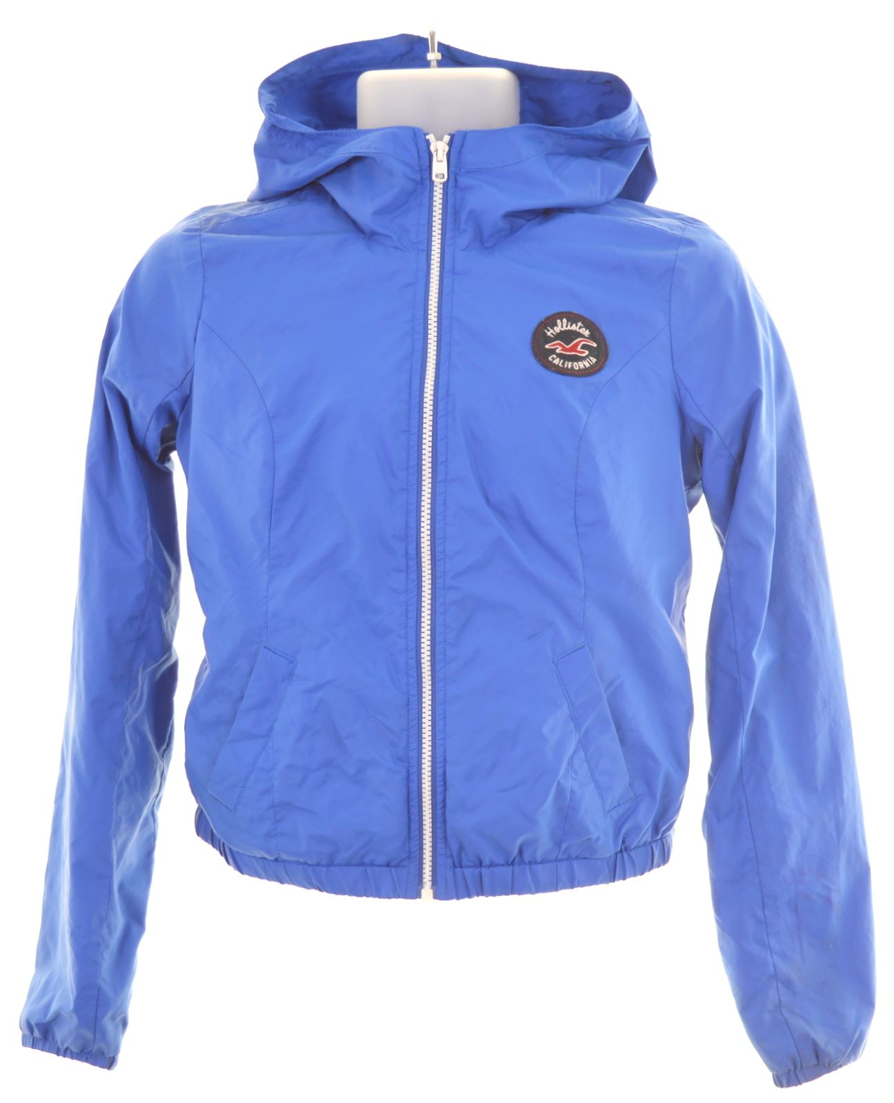 HOLLISTER Boys Rain Jacket 8-9 Years Small Blue Nylon KK08   eBay