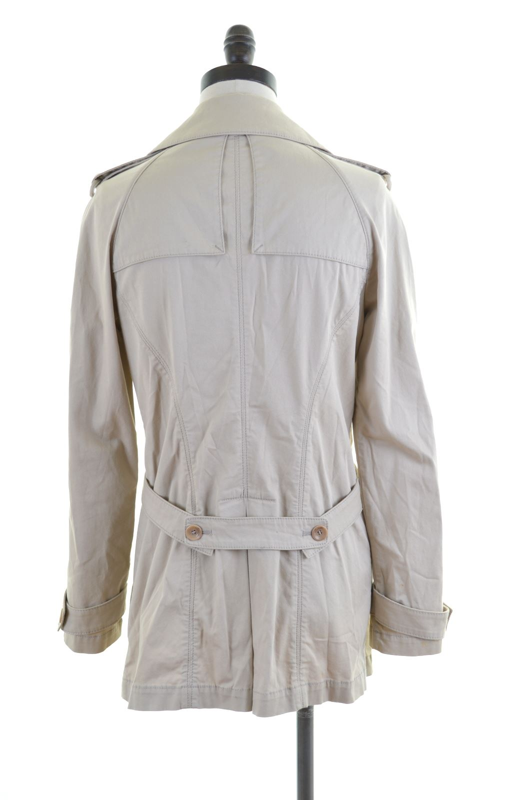 the best attitude b70f7 66d0b Details about LIU JO Womens Mac Trench Coat IT 42 Medium Beige Cotton IF06