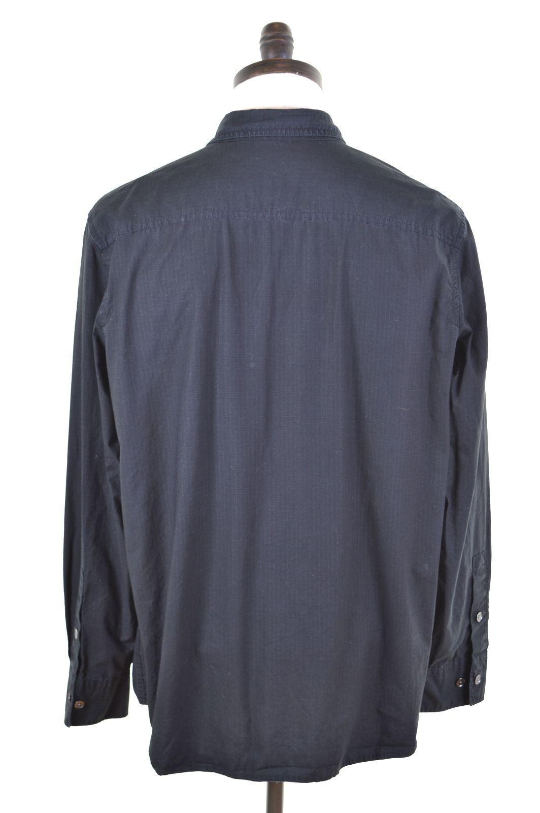 6b53a8286e8b CALVIN KLEIN Mens Shirt XL Black Cotton GR02