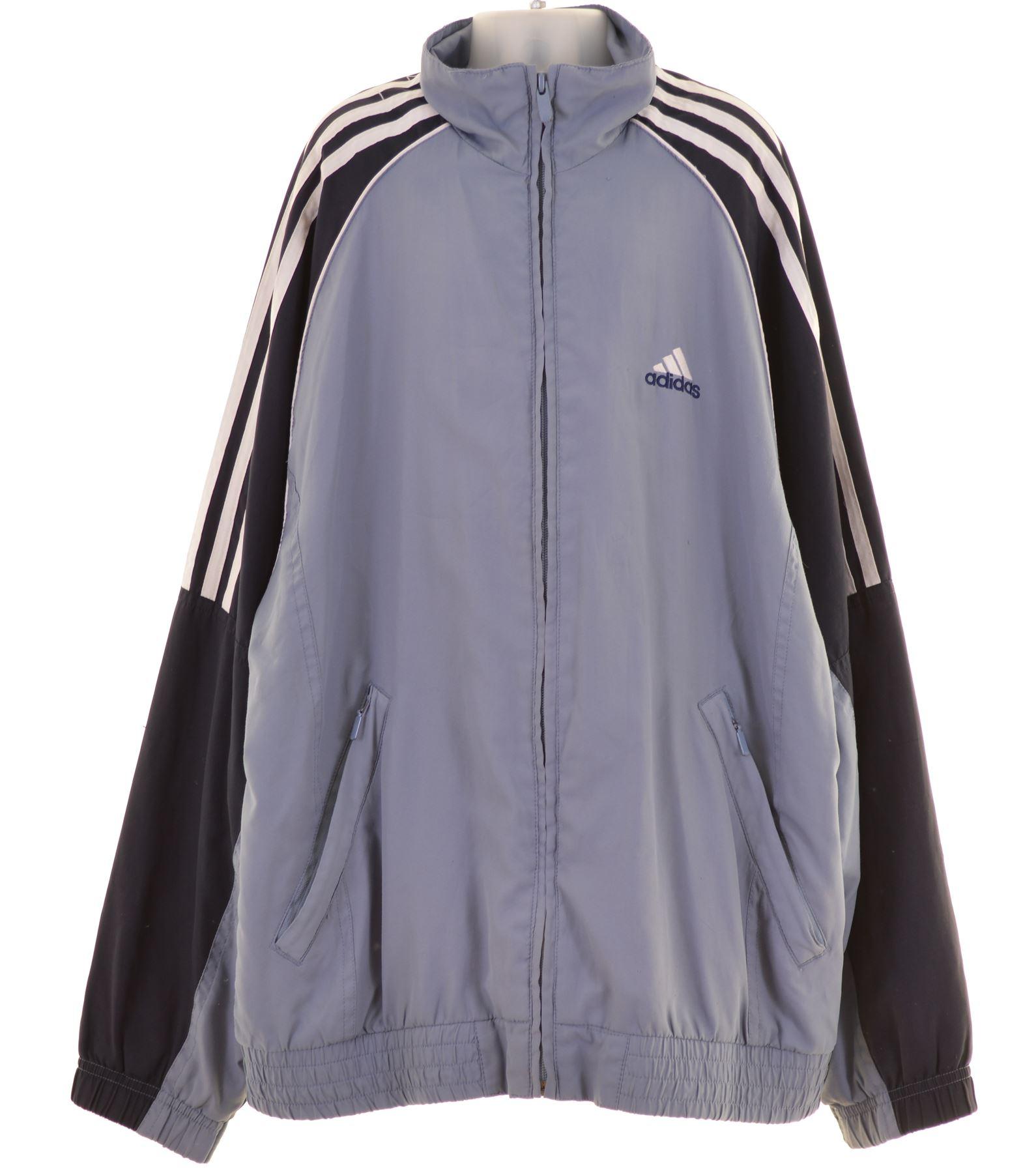 Détails sur Adidas Garçons Survêtement Haut Veste 13 14 ans polyester bleu MV36 afficher le titre d'origine