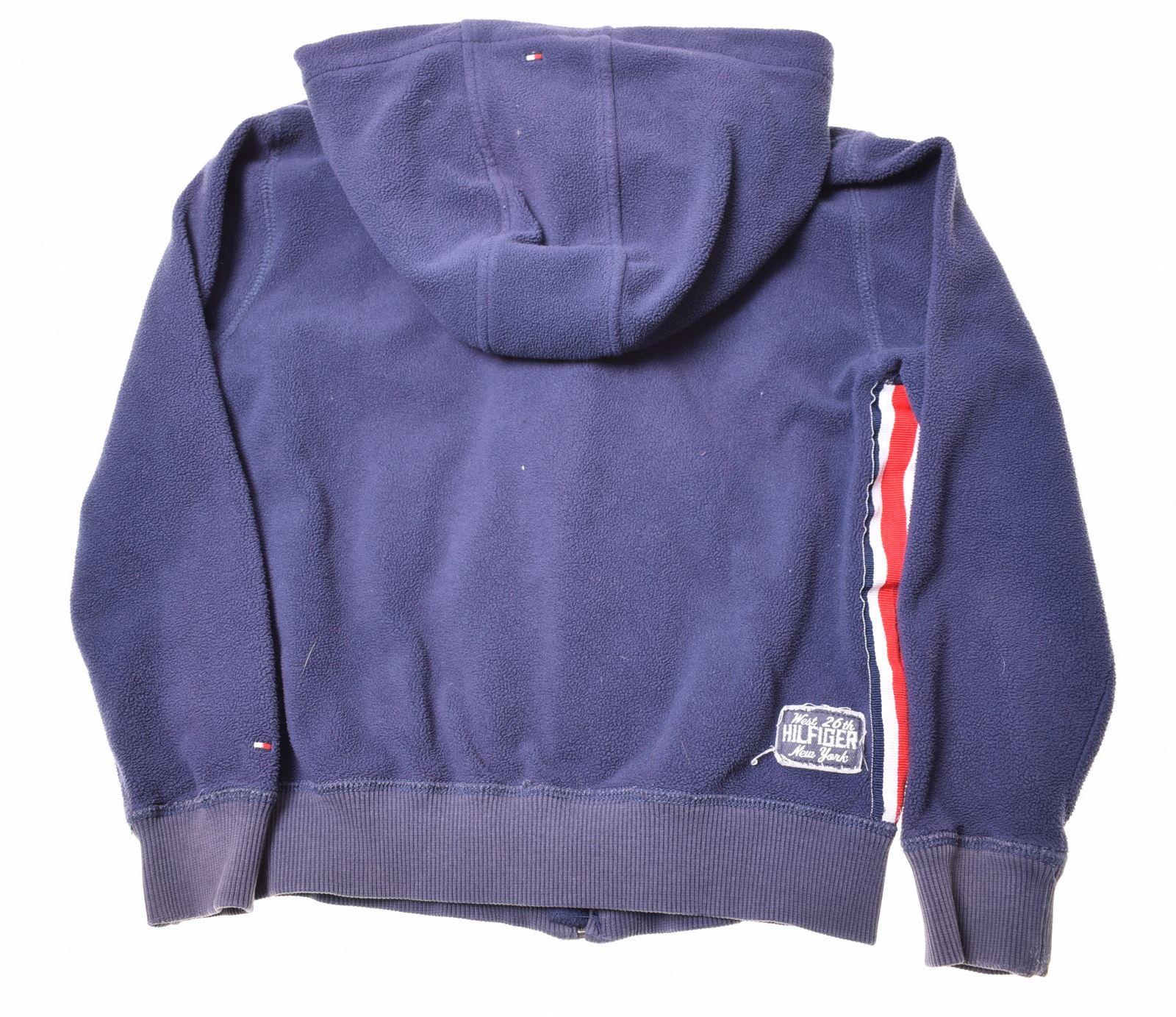 211e3d96 TOMMY HILFIGER Boys Fleece Hoodie Jacket 7-8 Years Blue Polyester   eBay