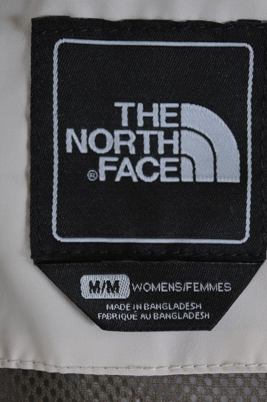 d9e96fe70 Details about THE NORTH FACE Womens Windbreaker Jacket Size 12 Medium Beige  Polyester AX05