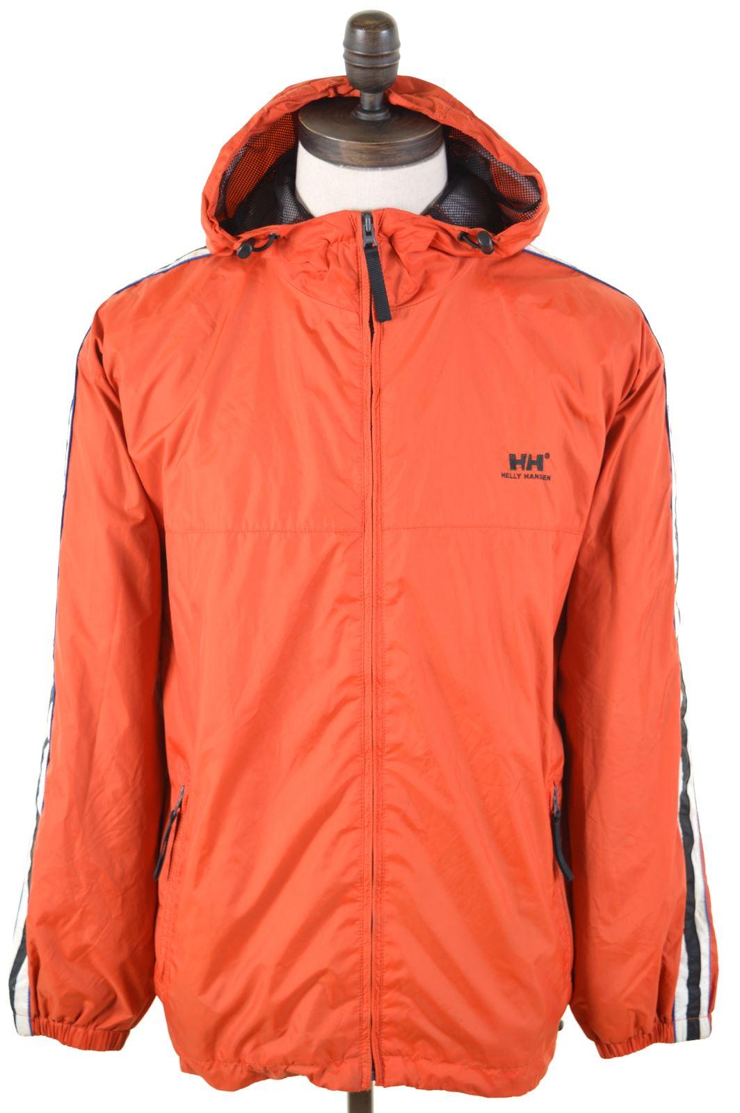 0b71b044 HELLY HANSEN Mens Rain Jacket Size 36 Small Orange Nylon BI17 | eBay
