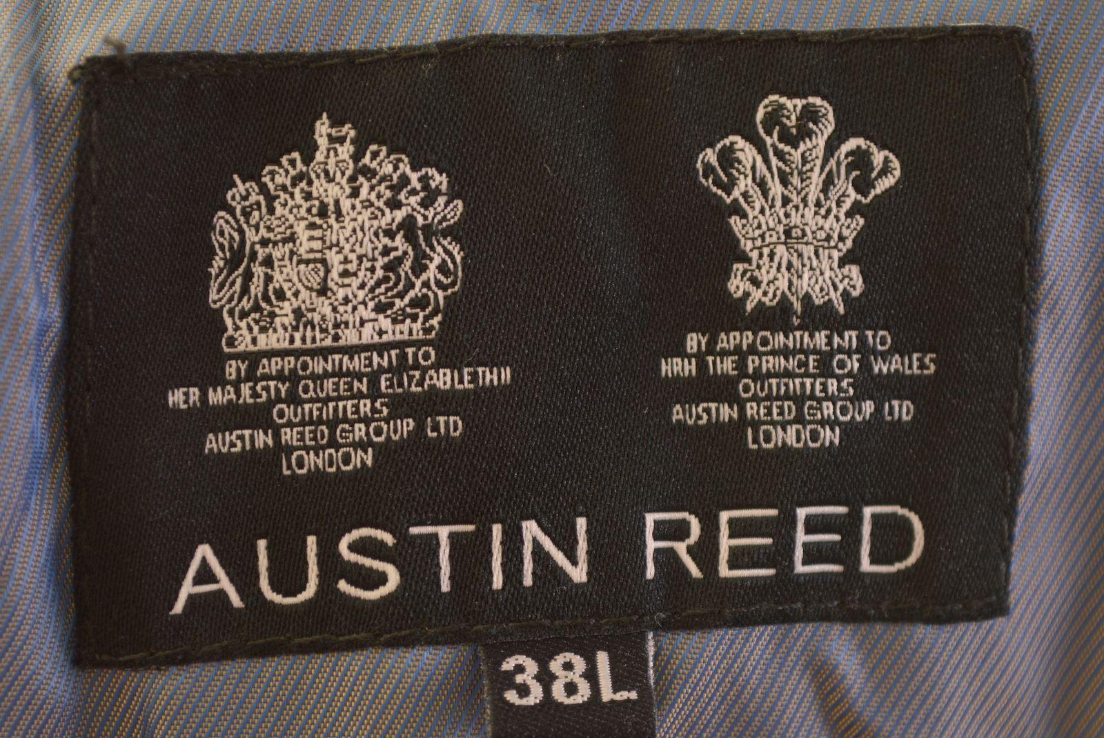 Austin Reed Mens 2 Button Blazer Jacket Size 38 Large Navy Blue Viscose Eg04 Ebay