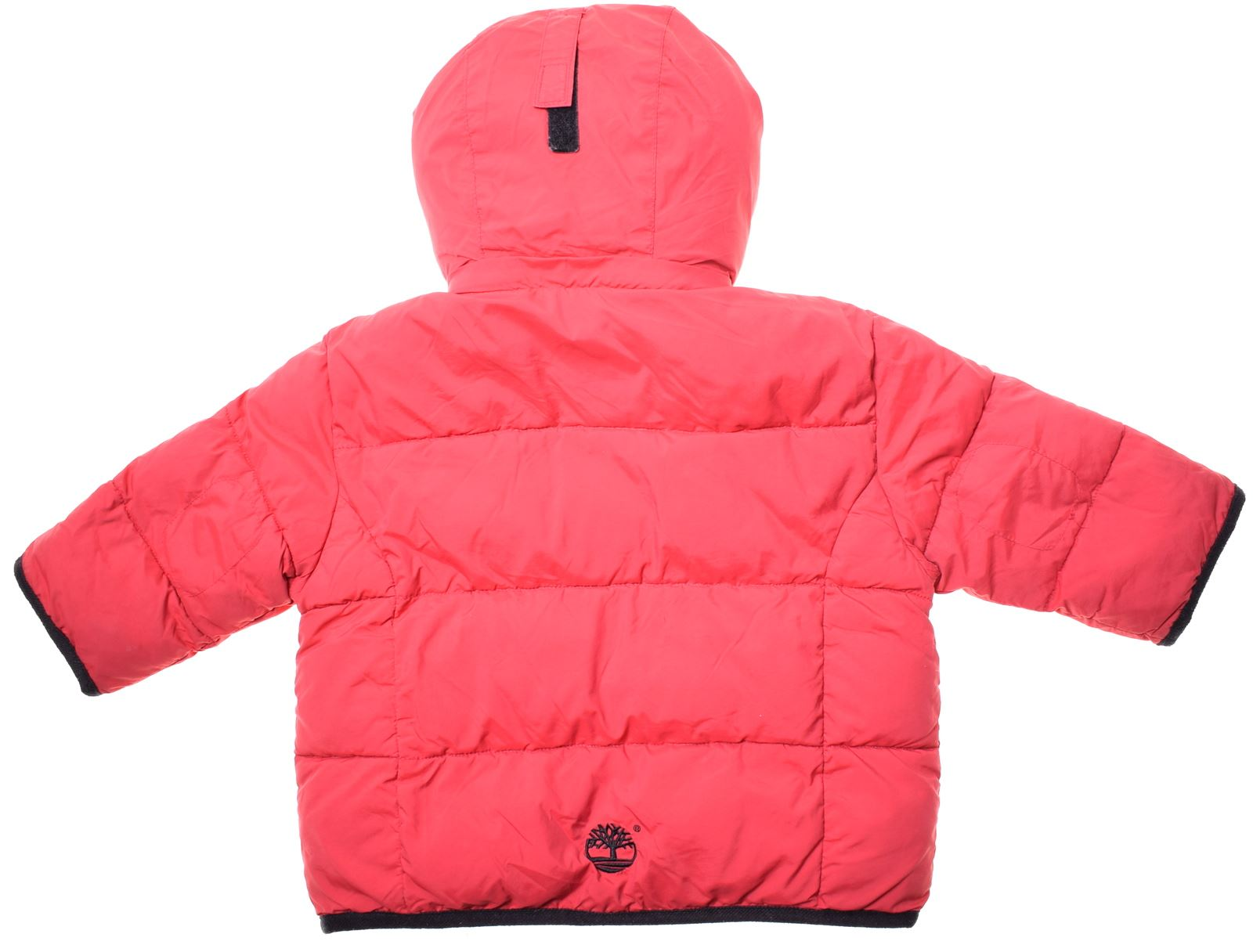 Details about TIMBERLAND Boys Padded Jacket 6 9 Months Red Polyester CZ02