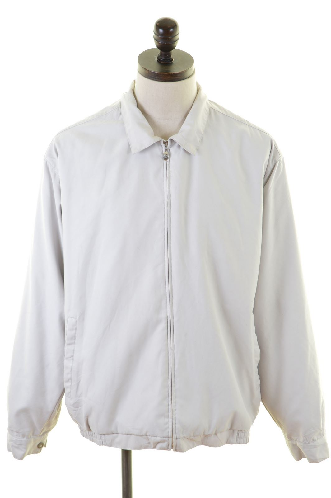 8dc3bd2a9 NIKE Mens Harrington Jacket Size 42 Large Off White Polyester ...