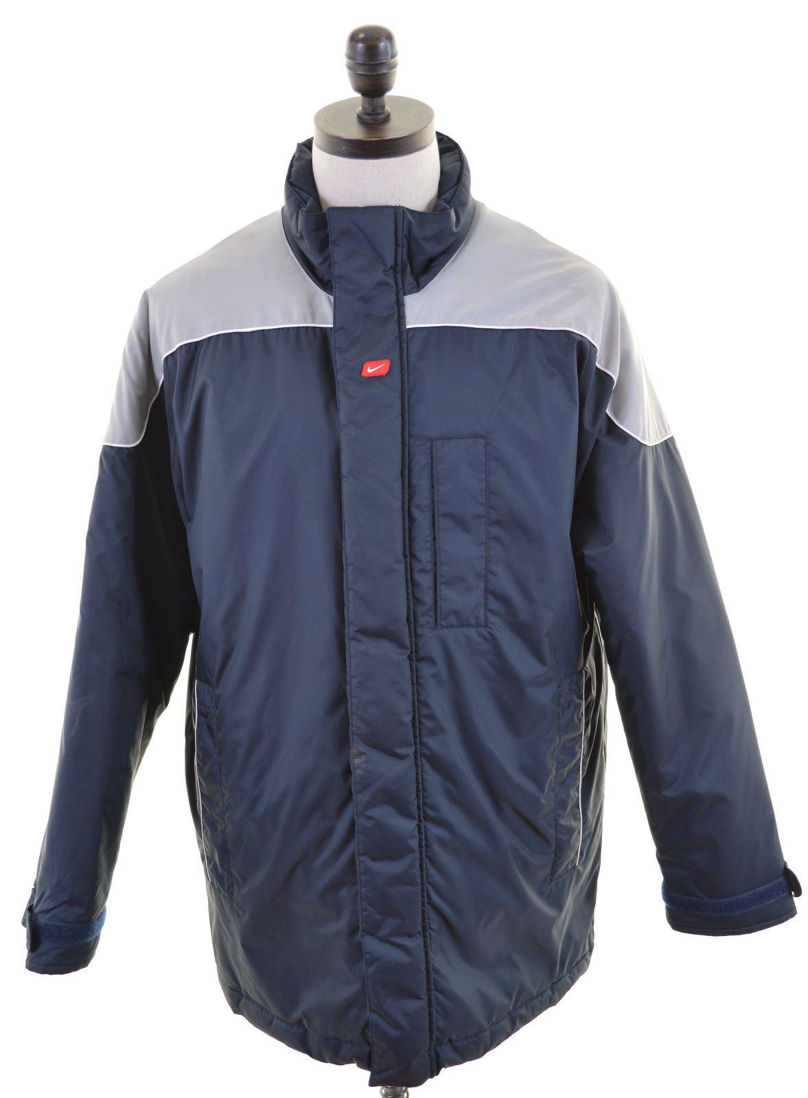 Détails sur Nike Homme Veste Matelassée Taille 44 Large Bleu