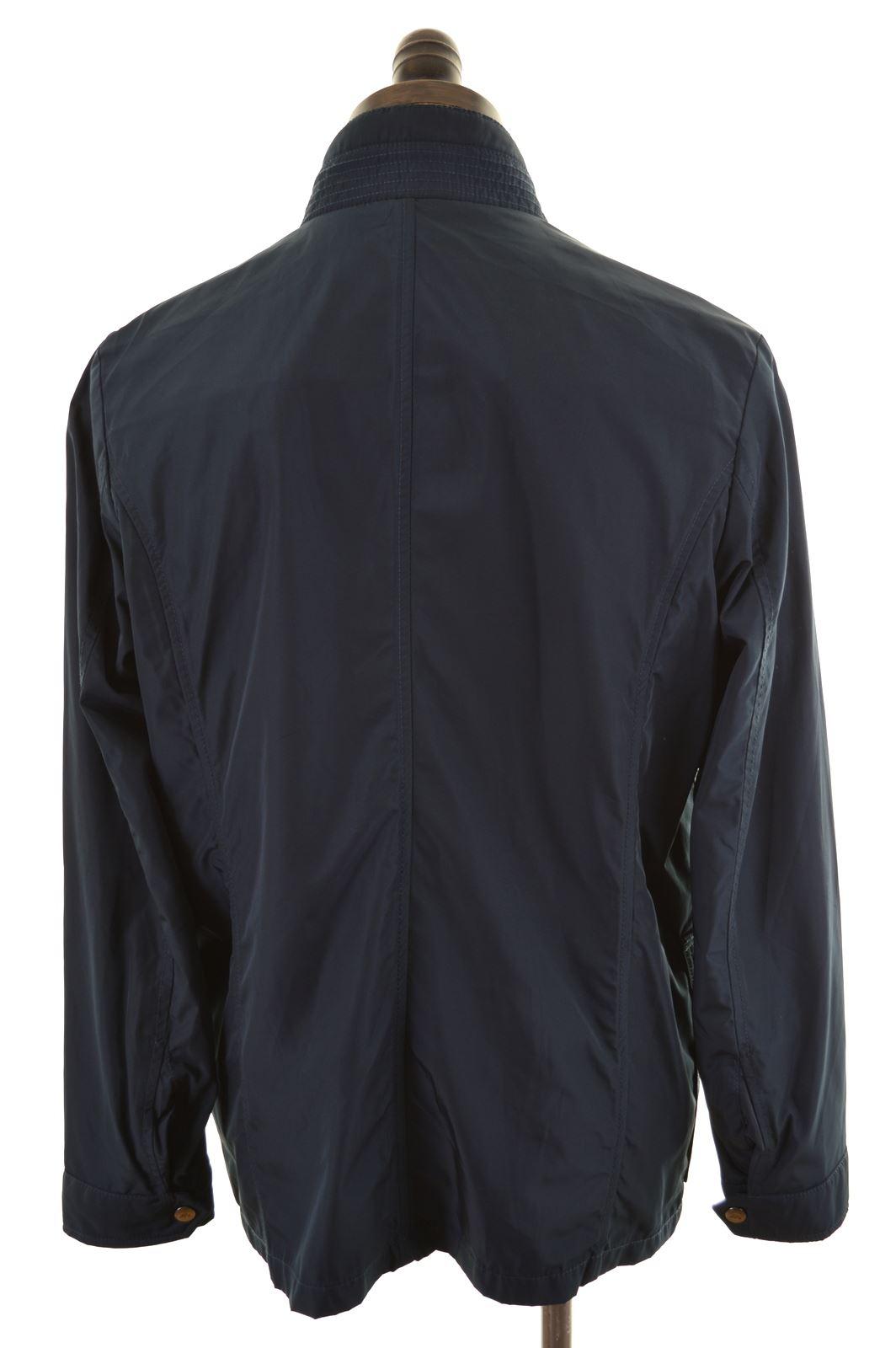 7f1483c8b Details about ELLESSE Mens Rain Jacket Size 38 Medium Navy Blue Polyester  DR24